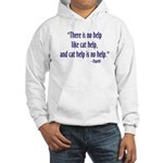 Cat Help Hooded Sweatshirt