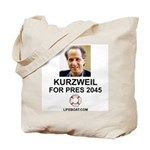 Kurzweil Tote Bag with LIFEBOAT.COM
