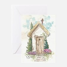 Bottom of the garden Greeting Cards