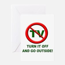 Turn Off The TV Greeting Card