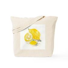 Watercolor Lemon Tote Bag