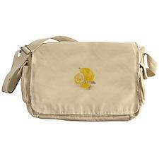 Watercolor Lemon Messenger Bag