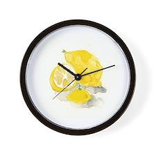 Watercolor Lemon Wall Clock