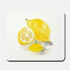 Watercolor Lemon Mousepad