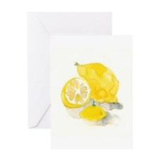 Watercolor Lemon Greeting Cards