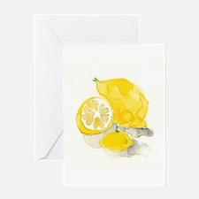 Watercolor Lemon Greeting Cards