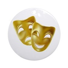 Masks of Comedy and Tragedy Ornament (Round)
