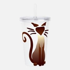 Cute Meow Acrylic Double-wall Tumbler