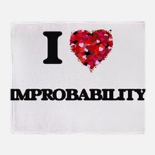 I Love Improbability Throw Blanket