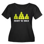 Ready Stack Women's Plus Size Scoop Neck Dark T-Sh