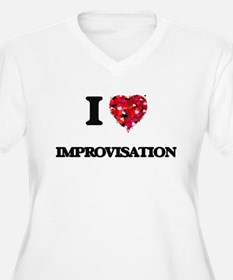 I Love Improvisation Plus Size T-Shirt