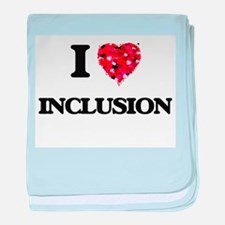 I Love Inclusion baby blanket