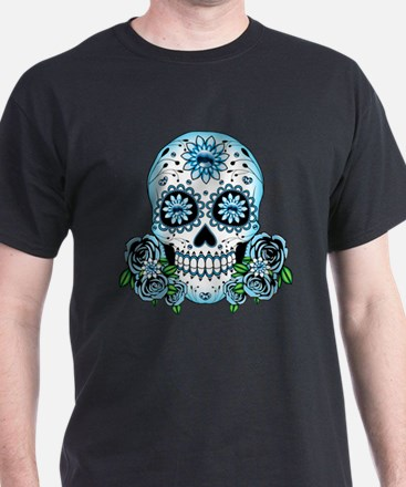 Blue Sugar Skull T-Shirt