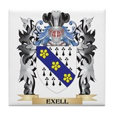 Exell Coat of Arms - Family Crest Tile Coaster