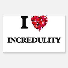 I Love Incredulity Decal