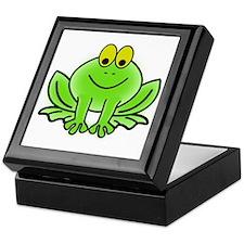 Smiling Cartoon Frog Keepsake Box