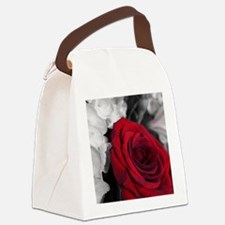 Elegant Rose Canvas Lunch Bag