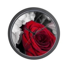 Elegant Rose Wall Clock
