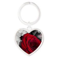 Elegant Rose Heart Keychain