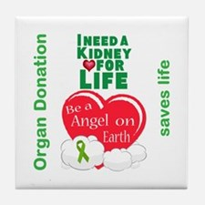 Kidney For Life Tile Coaster