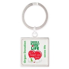 Kidney For Life Square Keychain
