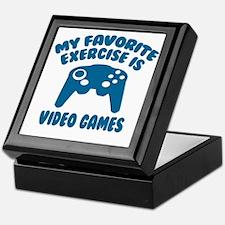 My Favorite Exercise is Video Games Keepsake Box