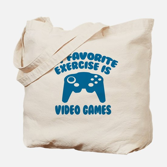 My Favorite Exercise is Video Games Tote Bag