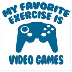 My Favorite Exercise is Video Games Framed Print