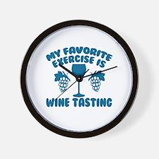 My Favorite Exercise is Wine Tasting Wall Clock