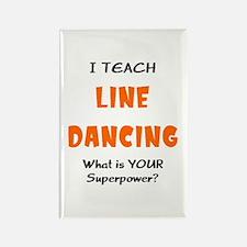 teach line dance Rectangle Magnet