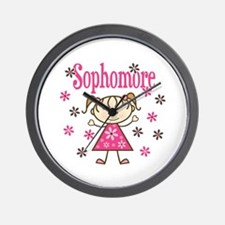 Sophomore Girl Wall Clock