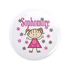 Sophomore Girl Button