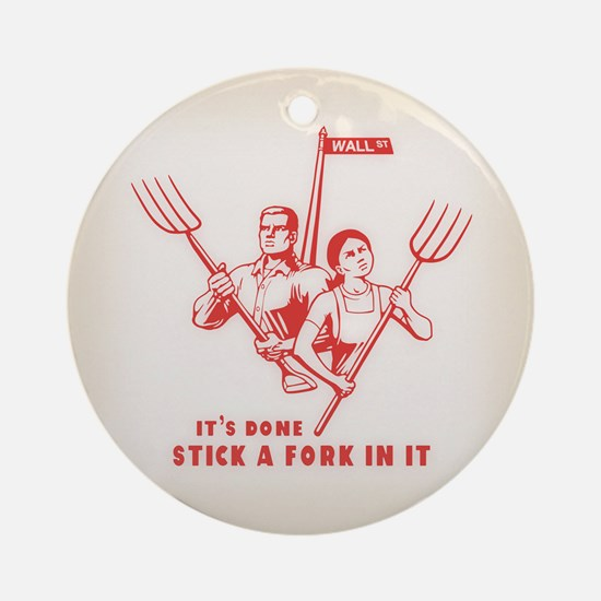 Stick A Fork In It Ornament (Round)