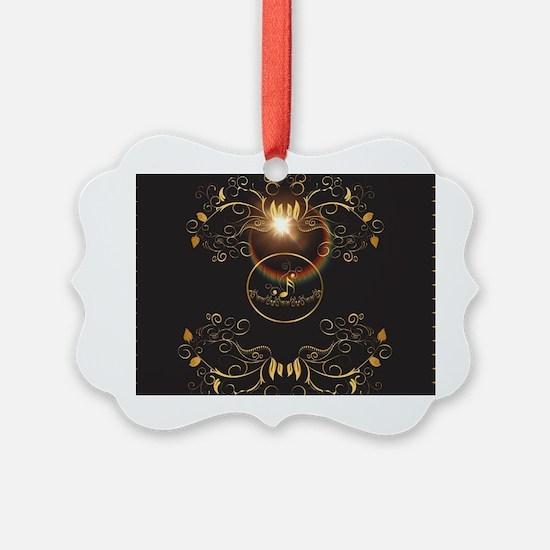 Golden key notes Ornament