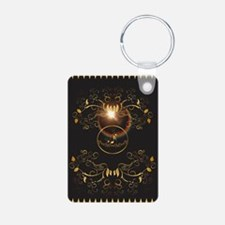 Golden key notes Keychains