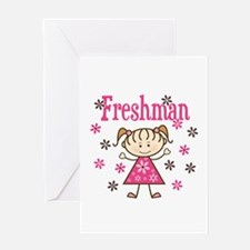 Freshman Girl Greeting Card