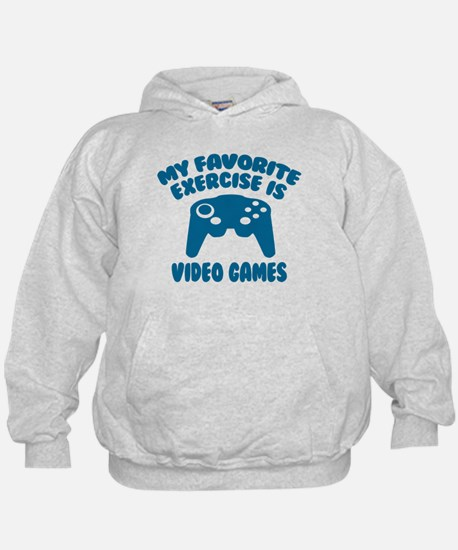 My Favorite Exercise is Video Games Hoodie