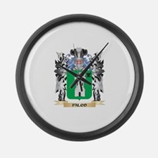Falco Coat of Arms - Family Crest Large Wall Clock