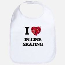 I Love In-Line Skating Bib