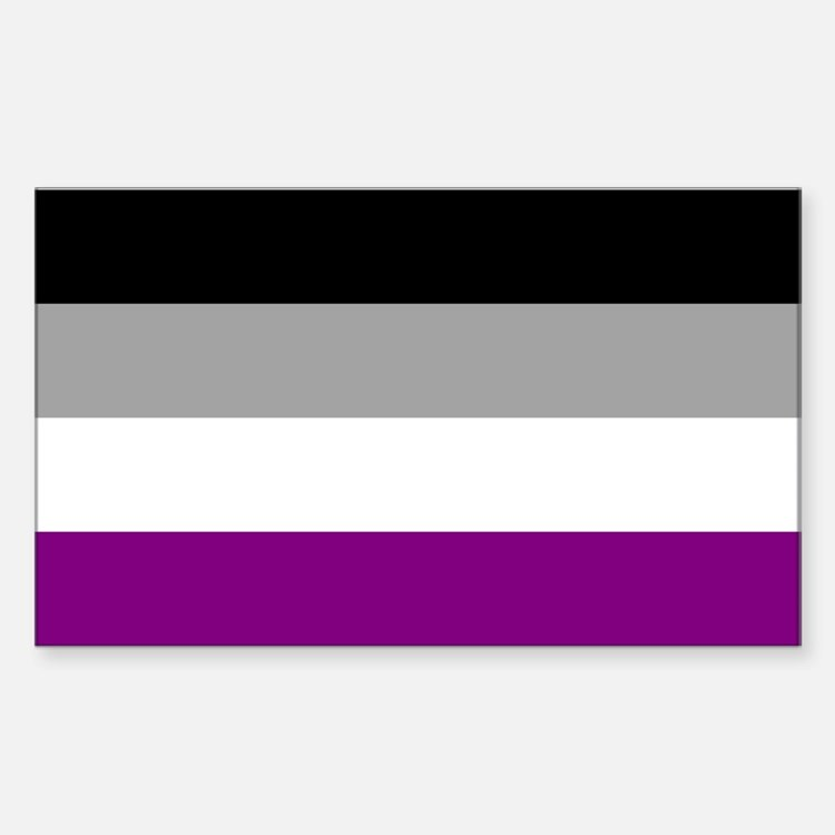 Asexual Pride Flag Decal