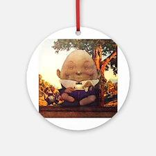 Humpty Dumpty in Wonderland Ornament (Round)