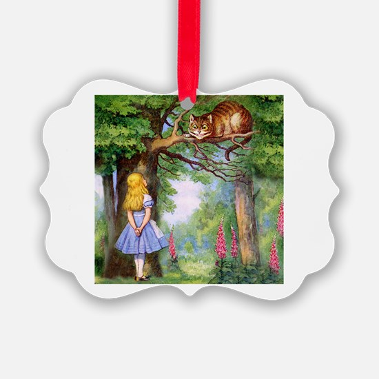 Alice and the Cheshire Cat Ornament