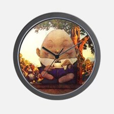 Humpty Dumpty in Wonderland Wall Clock