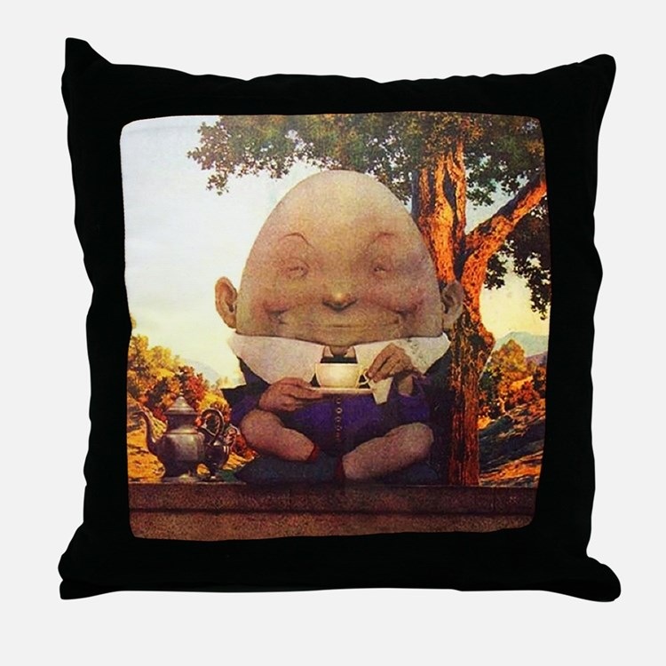 Humpty Dumpty in Wonderland Throw Pillow