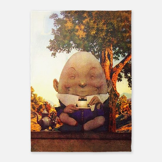 Humpty Dumpty in Wonderland 5'x7'Area Rug