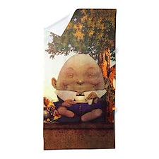 Humpty Dumpty in Wonderland Beach Towel