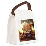 Humpty dumpty in wonderland Canvas Lunch Bag