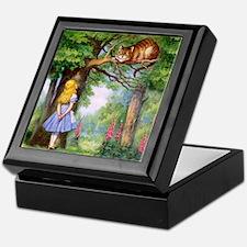 Alice and the Cheshire Cat Keepsake Box