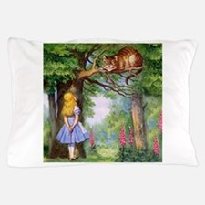 Alice and the Cheshire Cat Pillow Case