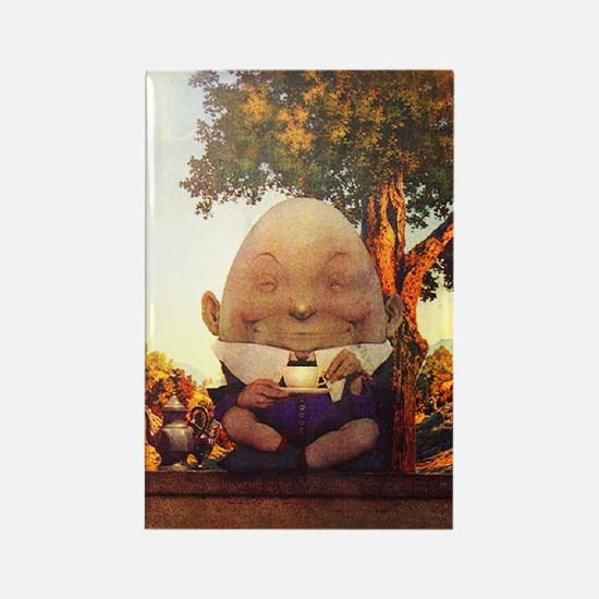 Humpty Dumpty in Wonderland Rectangle Magnet